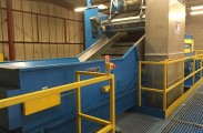 Non ferrous conveyor with Overband Magnet and Picking Station